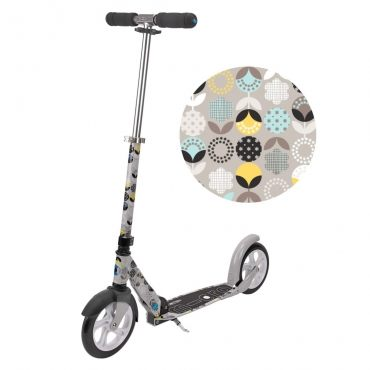 Micro Scooter White Floral Grey (SA0054)
