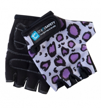 Перчатки Crazy Safety Purple Leopard